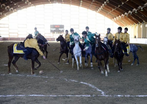 Final game of  President's Cup on Chovkan National Horseback Game was held